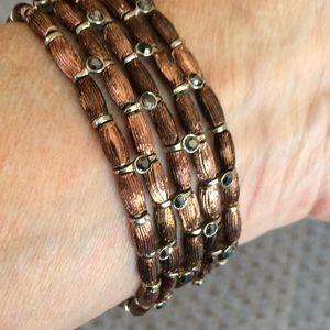 Lovely Five strand stretch bead bracelet